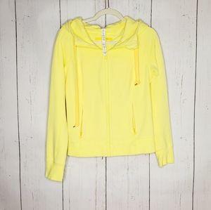 Lululemon Yellow Athletic Hooded Jacket